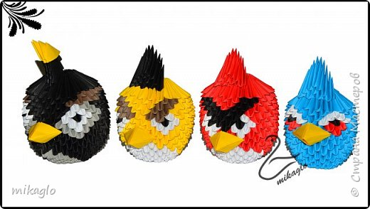 Origami 3d angry birds фото 1