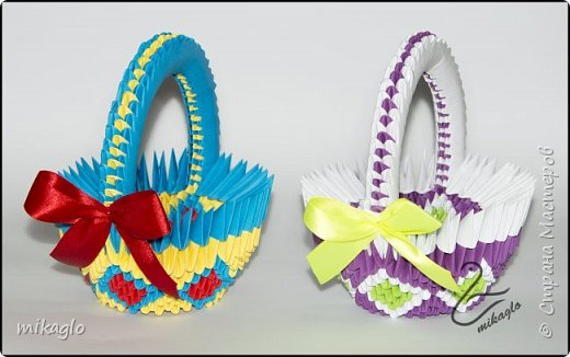 3d origami 3d easter baskets фото 2