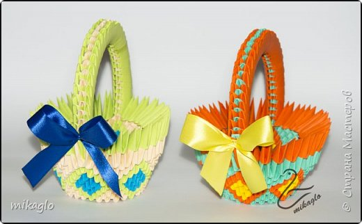 3d origami 3d easter baskets фото 3