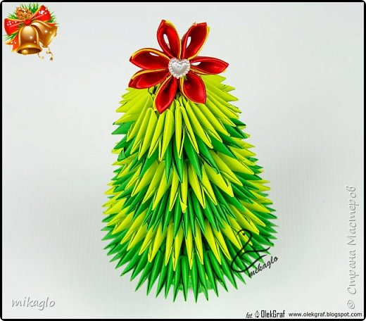 3d origami christmas tree фото 1