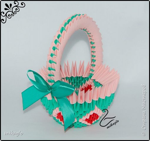 3d origami 3d easter baskets фото 4