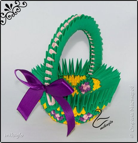 3d origami 3d easter baskets фото 5
