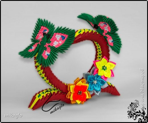 Origami 3d heart and butterflys фото 1
