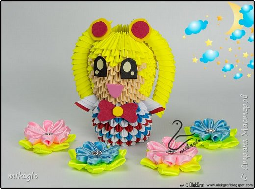3d origami Sailor Moon фото 1