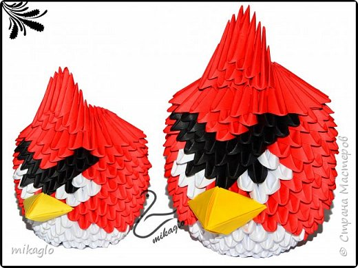Origami 3d angry birds фото 3