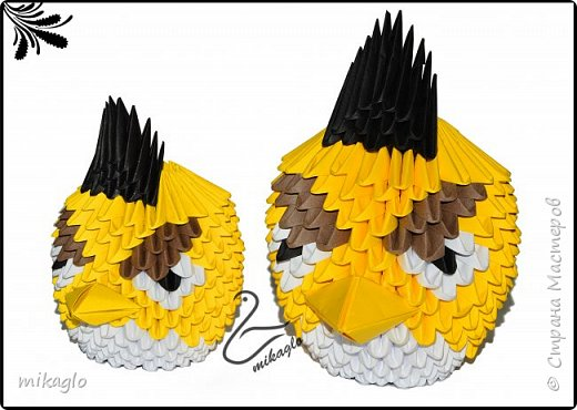 Origami 3d angry birds фото 4
