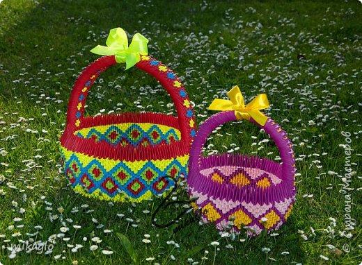 3d origami 3d baskets фото 2