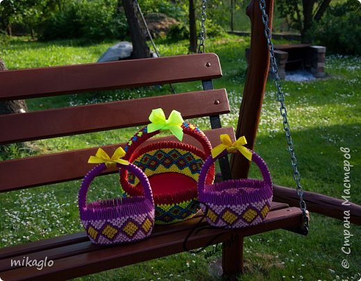 3d origami 3d baskets фото 3