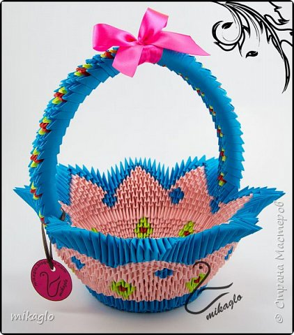 3d origami color baskets фото 2