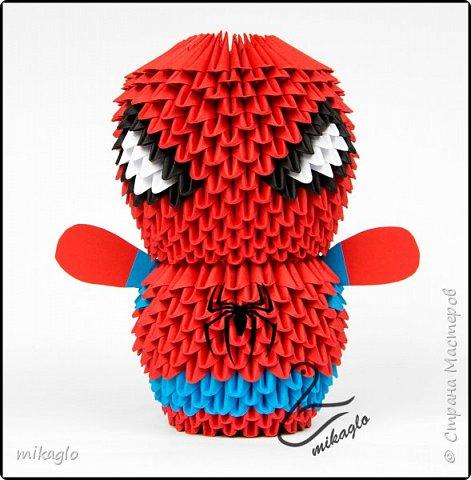 3d origami Avengers: Spiderman, Thor, Ironman, Hulk, Capitan America фото 6