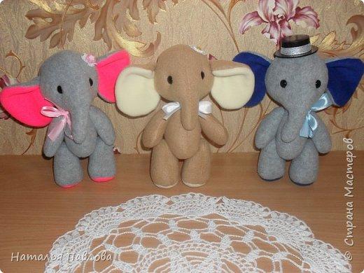 Флисовые слоники фото 1