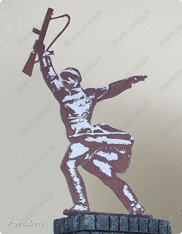 """Макет памятника """"Перемиловская высота"""", делала для поселковой библиотеки. фото 11"""