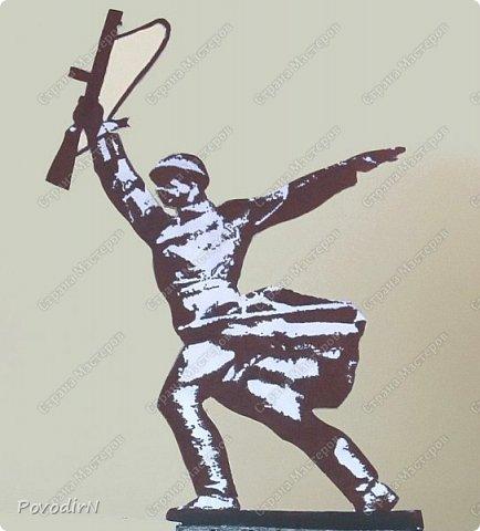 """Макет памятника """"Перемиловская высота"""", делала для поселковой библиотеки. фото 3"""
