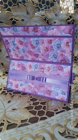 Доброго времени суток Страна! Попросили меня сделать открытку на Юбилей в фиолетовом цвете. Вот что у меня получилось.   фото 10