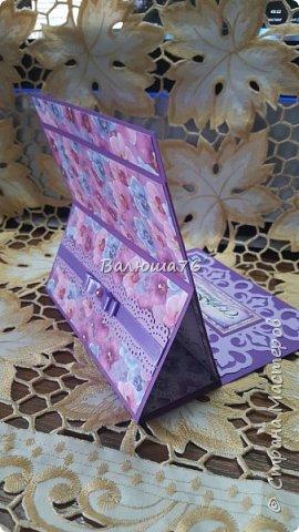 Доброго времени суток Страна! Попросили меня сделать открытку на Юбилей в фиолетовом цвете. Вот что у меня получилось.   фото 9