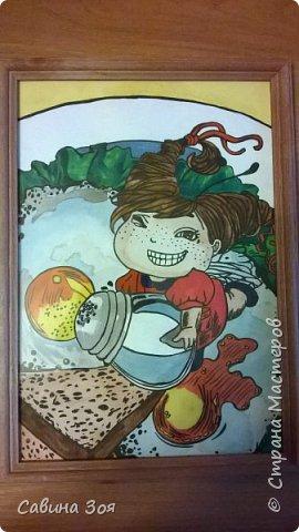 Моя сестра живёт в Москве и рисует вот такие замечательные рисунки, потом вставляет их в раму и получаются красивые картины - прекрасное решение для украшения интерьера. Мне очень нравится)))) фото 1