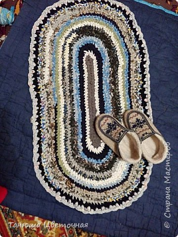 Коврик из махровых халатов,толстый,теплый,мягкий))) фото 3