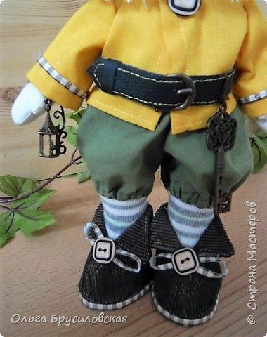 Привет всем в СМ!  Еще одного героя из сказок закончила я шить вчера. Это гномик! Очень я люблю этих милых лесных человечков! В Германии они пользуются особым уважением: во многих дворах, на садовых участках можно увидеть каменные, глиняные, деревянные фигурки гномов. Шила гномика для подарка, но, когда он был готов, поняла, что не смогу с ним расстаться. Оставлю его у себя. Пусть он приносит радость, достаток, удачу в мой дом! фото 3