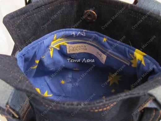Сумочка джинсовая фото 3