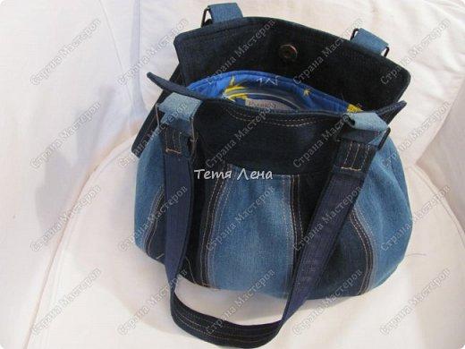 Сумочка джинсовая фото 2