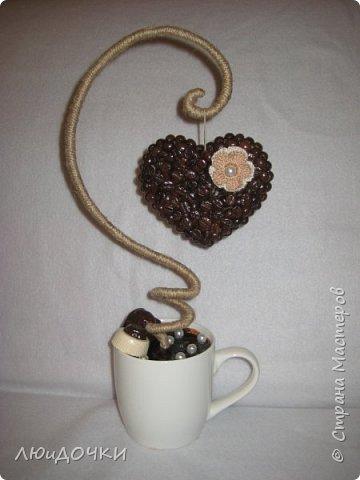 Здравствуйте, дорогие соседи! Сделала несколько кофейных работ.   Картина формата А4. Рама из ИКЕИ, пробковая подложка, силуэт зернами. фото 11