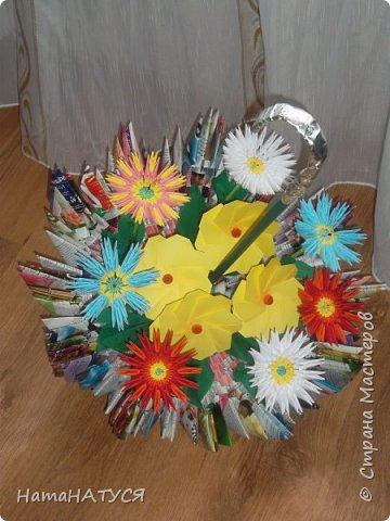 Добрый день, жители и гости СМ!!! Я с новой работой. Вот такой цветочный зонтик у меня получился. фото 2