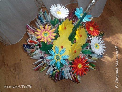 Добрый день, жители и гости СМ!!! Я с новой работой. Вот такой цветочный зонтик у меня получился. фото 3