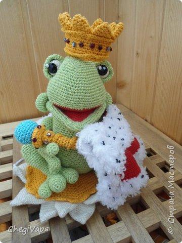 Если есть Царевна-лягушка, значит существует и Царь Лягух. Вот он - сидит на кувшинке со всеми подабающими регалиями и ждет свою прынцессу.  фото 1