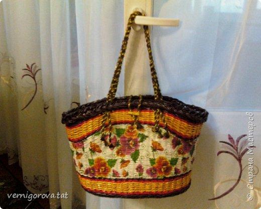 Здравствуйте дорогие мои соседи, жители и гости прекрасной Страны Мастеров! Вот сплела в подарок такую сумку по МК Елены Тищенко https://www.youtube.com/watch?v=w2otb5XJZGo .Леночка, спасибо большое.  фото 1