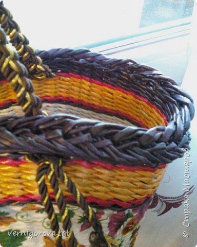 Здравствуйте дорогие мои соседи, жители и гости прекрасной Страны Мастеров! Вот сплела в подарок такую сумку по МК Елены Тищенко https://www.youtube.com/watch?v=w2otb5XJZGo .Леночка, спасибо большое.  фото 5