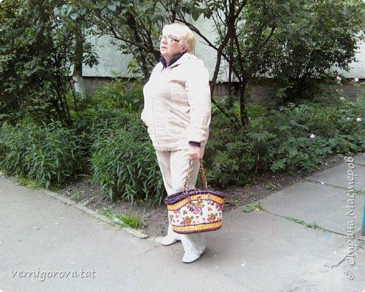 Здравствуйте дорогие мои соседи, жители и гости прекрасной Страны Мастеров! Вот сплела в подарок такую сумку по МК Елены Тищенко https://www.youtube.com/watch?v=w2otb5XJZGo .Леночка, спасибо большое.  фото 6