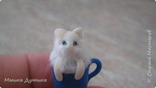 Здравствуйте! Уважаемая Страна Мастеров!!! С праздником вас, с Днем России! К этому знаменательному Дню решила смастерить, (если можно так сказать), вот такую кружечку с котенком. Это изделие сочетает в себе 3 цвета: Белого котенка, синюю кружку и красное блюдце.  фото 18