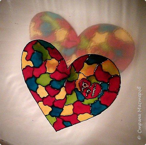 Буквально стеклянное сердце. Витраж фото 2