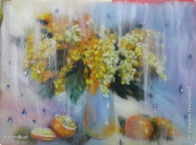 Спасибо всем, кто заглянул ко мне. Картина нарисована шерстью. Накрыта стеклом. Сделана на мастер классе с Яной Богдановой.