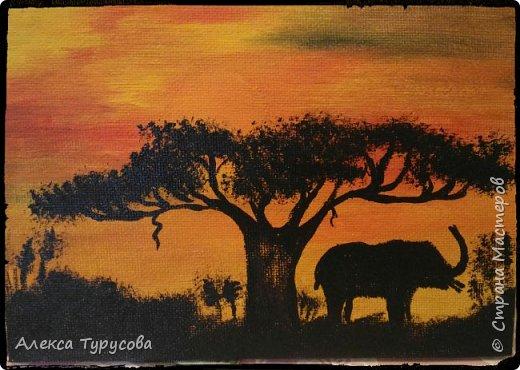 Холст,акриловая краска,африканские мотивы. фото 1