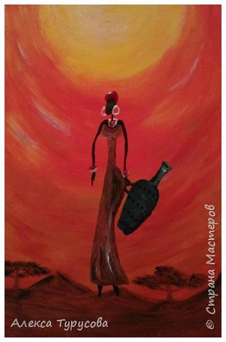 Холст,акриловая краска,африканские мотивы. фото 2