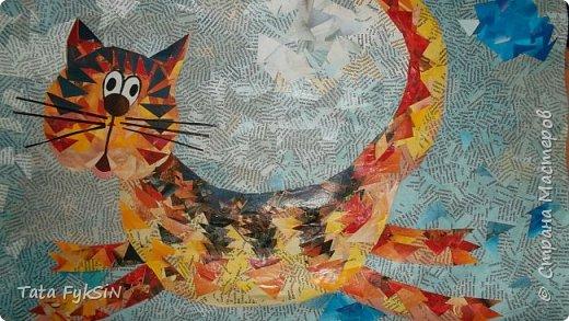 """Спасибо Таня Сорокина за МК ! Теперь  у нас летающий кот!  Ликвидация журналов """"1000 советов """" прошла успешно . Кот от советов очень умный получился фото 4"""