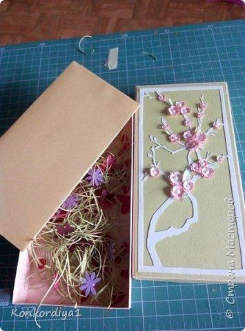 Вот такая нежность получилась из бумаги. цветочки вырезала вручную и немного подкрасила акварелью. фото 4