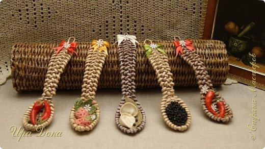 Здравствуйте мастера и гости! Очаровали меня плетеные ложки по МК, Нины Павловской, до невозможности. Отложила даже текущую работу и взялась за плетение ложек и их украшение.  В итоге вот что у меня получилось. фото 1