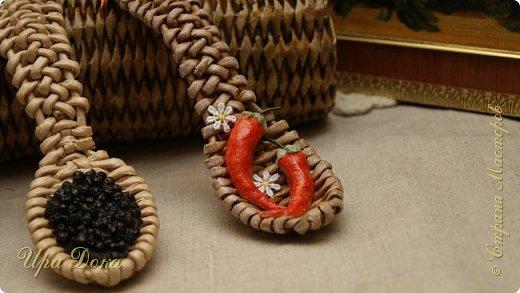 Здравствуйте мастера и гости! Очаровали меня плетеные ложки по МК, Нины Павловской, до невозможности. Отложила даже текущую работу и взялась за плетение ложек и их украшение.  В итоге вот что у меня получилось. фото 2