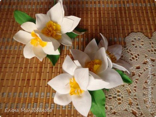 Заколки с весенними цветами. фото 8
