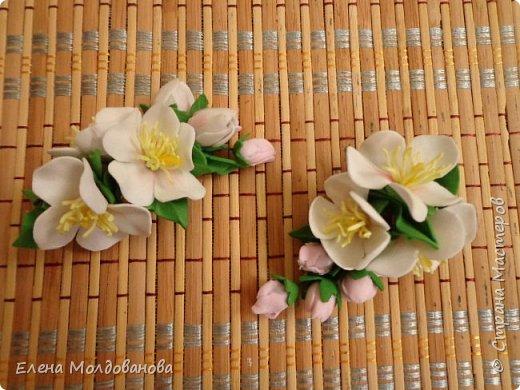 Заколки с весенними цветами. фото 4