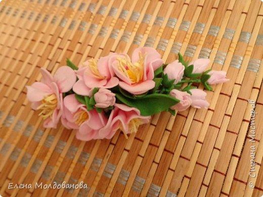 Заколки с весенними цветами. фото 6