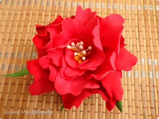 Заколки с весенними цветами. фото 9