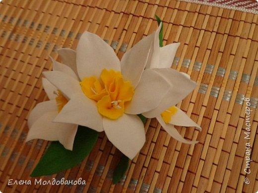 Заколки с весенними цветами. фото 7