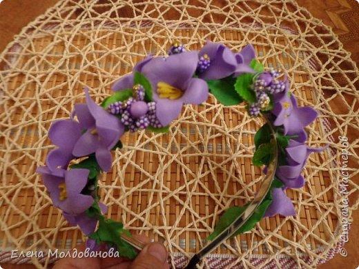Заколки с весенними цветами. фото 11