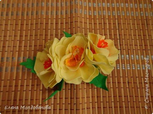 Заколки с весенними цветами. фото 13