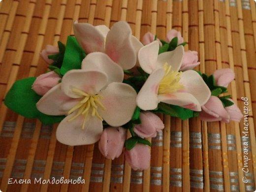 Заколки с весенними цветами. фото 1