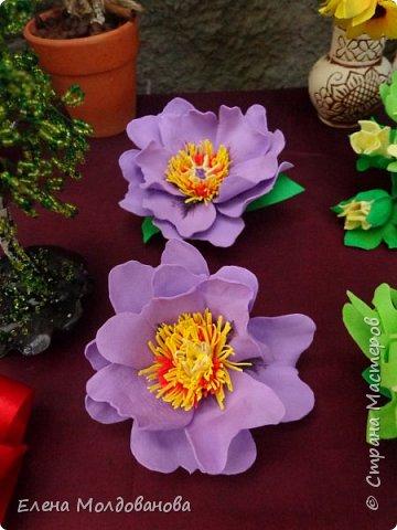 Заколки с весенними цветами. фото 12