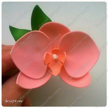 Резиночка для волос персикового цвета ;).  фото 2